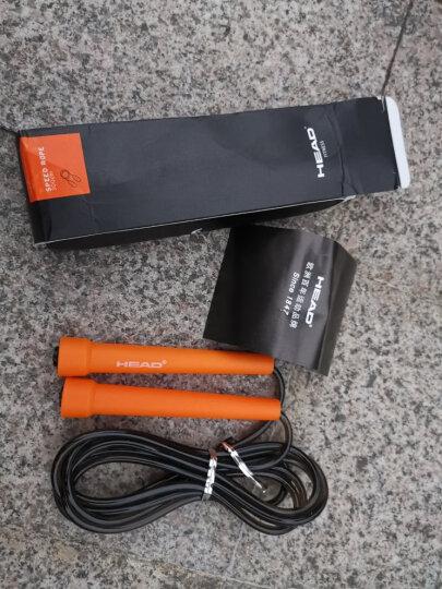 海德(HEAD)跳绳 竞速跳绳专业健身减肥运动手柄跳绳2.8米可调节 黑柄橙绳 晒单图