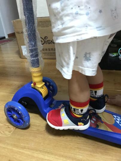 迪士尼(Disney)儿童滑板车四轮闪光可拆卸摇摆车小孩滑行脚踏车DCA71115-A 晒单图