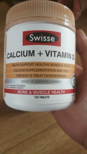 Swisse 钙加维生素D片 柠檬酸钙片 150片/瓶 强健骨骼 中老年成人孕妇补钙 澳洲进口 晒单图