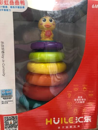 汇乐玩具 彩虹叠叠鸭手指启蒙学习琴爬行虫小孩宝宝早教益智婴儿玩具 启迪智慧的木琴(三色球、带棰子)856 晒单图