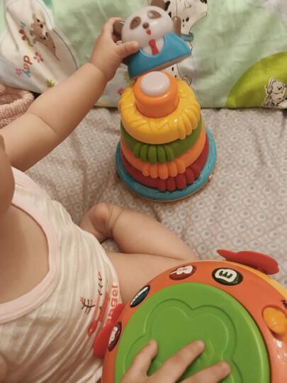 澳贝(AUBY) 益智玩具熊猫叠叠圈婴幼儿童音乐发光不倒翁叠叠乐463465DS 晒单图