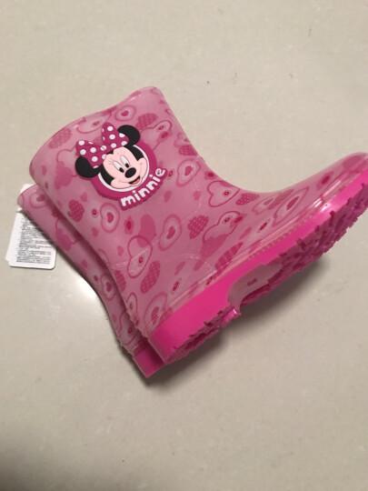 迪士尼(Disney)米奇儿童雨鞋男女童雨靴小孩宝宝卡通防滑水鞋送鞋垫 MP15487米奇水蓝 34码/内长22cm 晒单图