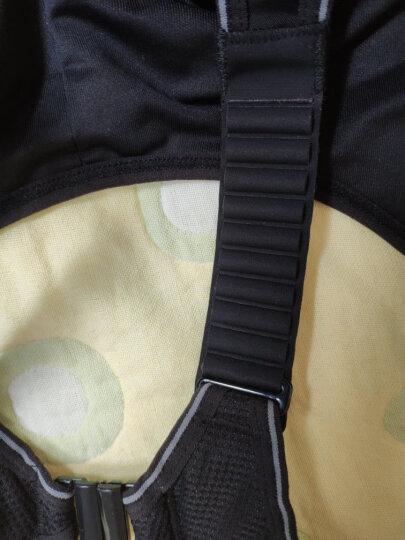 薏凡特(YVETTE)运动内衣女高强度运动文胸跑步健身防震bra无钢圈背心胸衣大码文胸 黑色 80E 晒单图