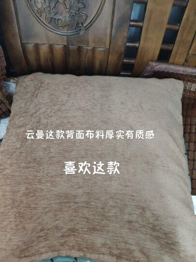 春龙凉席垫子麻将席坐垫夏季椅垫防滑沙发凉垫软垫汽车用办公椅连体座竹垫子可定制尺寸 花浪漫-糯色连体坐垫(绑带两根) 50x110cm 晒单图