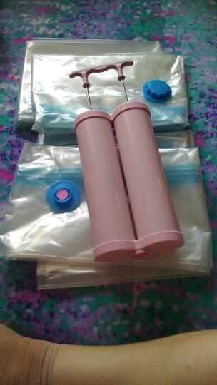 佳佰 压缩袋 密封真空防尘衣物被子收纳袋 9丝加厚15只装(4大5中6小)内含双管气泵 晒单图
