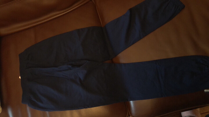 铅笔俱乐部童装女童运动裤男童中大童休闲长裤儿童裤子潮 蓝色 150cm 晒单图