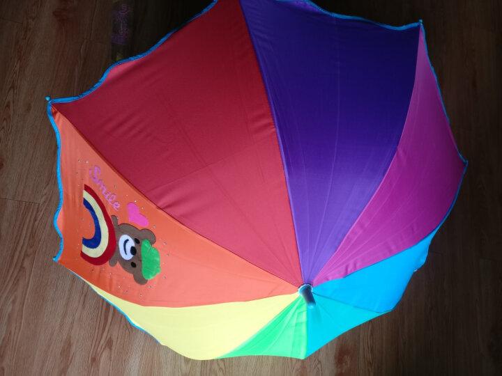 天堂伞 七彩童年儿童黑胶彩虹伞小学生卡通公主防晒晴雨伞太阳伞 彩虹小熊 晒单图