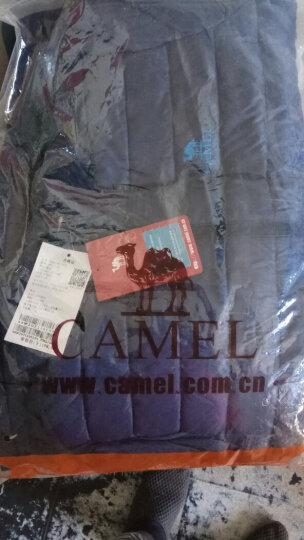 骆驼 CAMEL 户外运动羽绒服男女短款轻薄保暖羽绒外套秋冬 A6W2U7110 藏蓝 M 晒单图