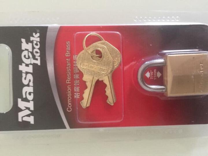 玛斯特(Master Lock)黄铜挂锁家用实心仓库大门锁150MCND 晒单图