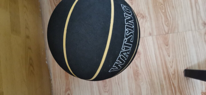 WITESS 篮球番毛软皮加厚真皮手感7号标准比赛篮球室内室外通用蓝球 烫金人深棕色-送全套配件 晒单图