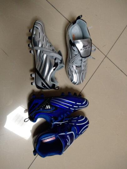 回力童鞋女童训练鞋2020新款碎钉子耐磨男童足球鞋时尚帅气儿童运动鞋 银色 34码鞋内长约21.5cm 晒单图