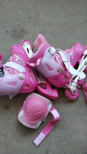 美洲狮(COUGAR) 溜冰鞋儿童套装轮滑鞋 闪光可调男女滑冰鞋旱冰鞋 MS828/P6 粉(八轮全闪)含护具头盔+包 M(实际31-36码) 晒单图