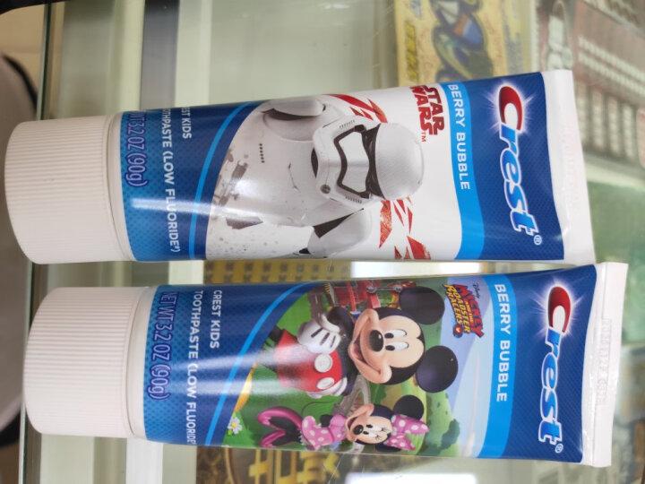 佳洁士(Crest)阶段型儿童牙膏水果味/泡泡糖味(两种口味随机发货,安全低氟)(德国进口)(新旧包装,随机发) 晒单图