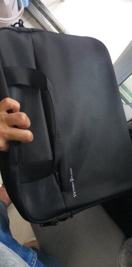 维多利亚旅行者VICTORIATOURIST 电脑包15.6英寸手提电脑包 单肩斜跨商务公文包V7009黑色 晒单图