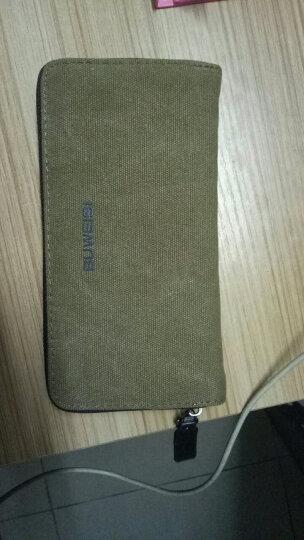 布维斯BUWEISI男士钱包 帆布时尚长款钱夹多功能多卡位韩版钱包s018 洗水军咖色 晒单图