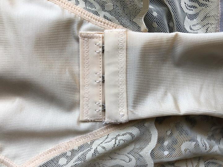 莱孚女士连体塑身衣无痕加强版产后收腹提臀带文胸束身衣夏季薄款透气紧身瘦身衣平角裤 肤色+肤色(2条) M85-95斤 晒单图