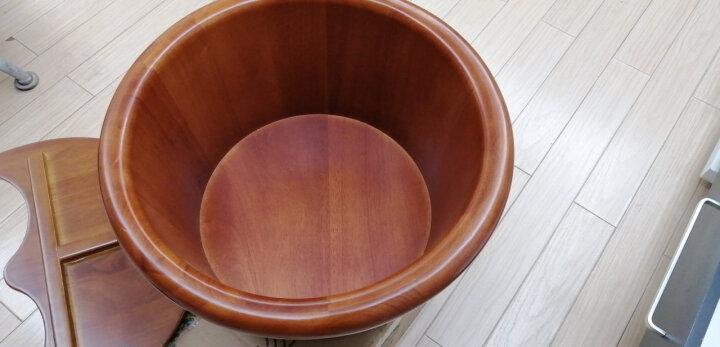 尚田 25cm高足浴橡木洗脚盆 实木泡脚桶 STT-035圆边浴足桶家用浴足桶加盖木桶沐桶 不带盖子 晒单图