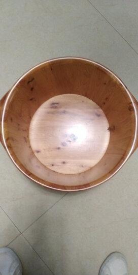 尚田 木桶26cm高香柏木泡脚木桶 木质足浴桶 足疗洗脚盆 STB-001双耳浴足桶 晒单图