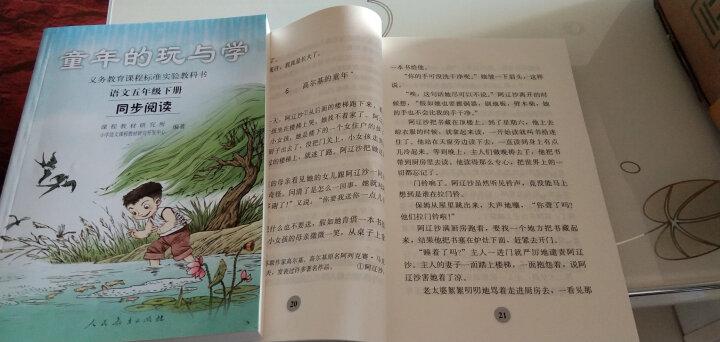 2020新版 水墨菱塘+彩色篱笆 五年级上册下册语文同步阅读彩色篱笆 全2册 自读课本人民教育出版社 晒单图