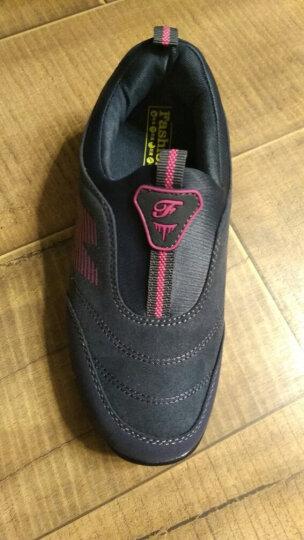 卡地玛丽老人鞋防滑软底中老年健步鞋套脚防滑爸爸妈妈鞋运动休闲男女鞋 M28 深灰/女款 36 晒单图