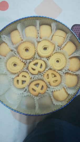 优尚优品 曲奇饼干 早餐 休闲零食 礼盒装908g铁盒包装 晒单图
