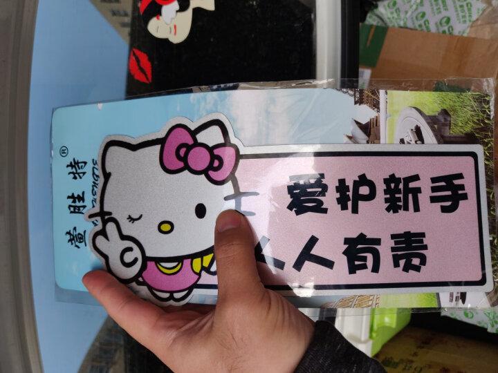 萱胜特 防水防晒反光车贴 双面磁性车贴 KT猫爱护新手车贴 实习车贴 晒单图