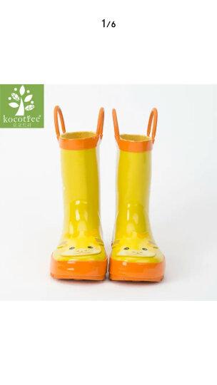 kk树 kocotree儿童脚套雨鞋套小鹿款加厚耐磨防水小孩过膝水鞋腿套 KQ17145 深蓝 均码 晒单图