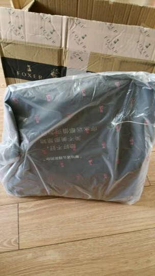 金狐狸(FOXER)时尚女包 新款牛皮女士包包锁链压花手提包休闲单肩包女962061F JD9061460POP61F1A黑色 晒单图
