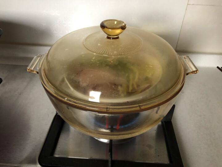 康宁锅(VISIONS)1.25L/2.1L汤锅玻璃锅透明锅琥珀锅 4L高清锅 晒单图