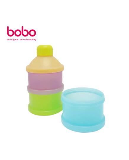乐儿宝(bobo)宝宝婴儿奶粉盒 便携式奶粉存储盒罐 三格(大容量3独立开口) 晒单图