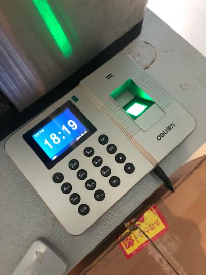 得力(deli)33154 智能指纹考勤机 免软件脱机打卡机 晒单图