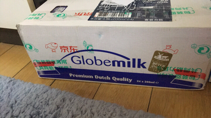 荷兰原装进口 荷高(Globemilk) 全脂纯牛奶200ml*24整箱装 3.6%乳蛋白 晒单图