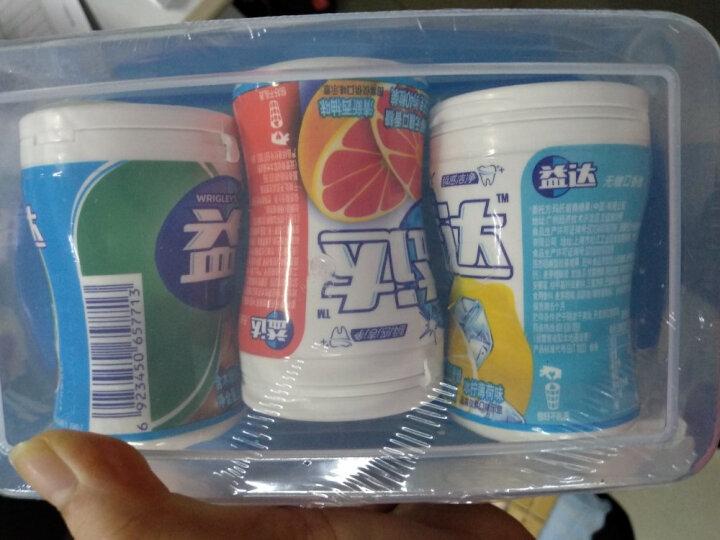 益达(Extra)木糖醇无糖口香糖冰柠薄荷40粒56g单瓶装(新旧包装随机发) 晒单图
