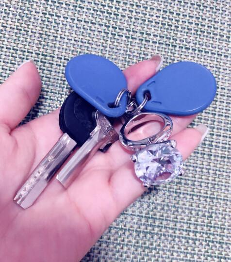 网红钥匙扣女ins同款大钻戒指钥匙扣生日礼物女生实用钥匙挂件表白求婚道具情人节礼物送女朋友闺蜜同学 紫钻 晒单图