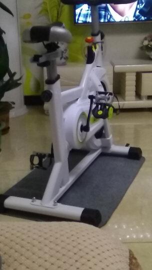 汗马 动感单车家用静音运动减肥器材健身车室内脚踏自行车 智能运动APP款-白-100特粗车架 晒单图