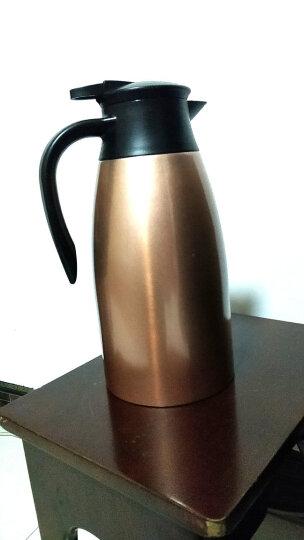 咔咔保温壶家用暖壶水壶热水瓶暖瓶2L开水瓶保温瓶大容量不锈钢保暖壶欧式家用热水壶保温咖啡壶 香槟金 晒单图