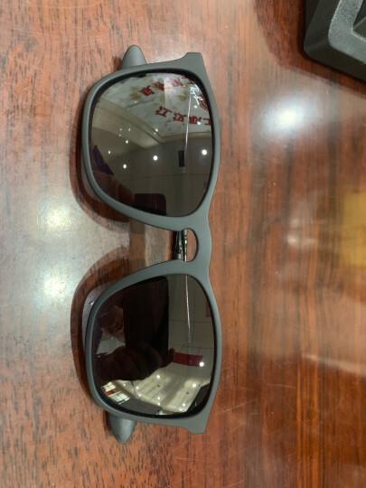 RayBan 雷朋太阳眼镜男女款方形舒适简约潮流渐变色0RB4187F可定制 622/8G黑色镜框灰色渐变镜片 尺寸54 晒单图
