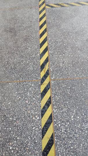 谋福 警示胶带 地板胶带斑马线胶带 PVC隔离带 地面划线胶 地毯场馆舞台车库使用胶带地胶 超宽10厘米宽黑黄色 晒单图
