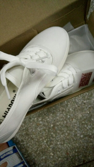 环球(HUANQIU) 情侣款韩版帆布鞋 糖果色护士小白鞋 舒适学生布面休闲鞋子 大红 女款38 晒单图