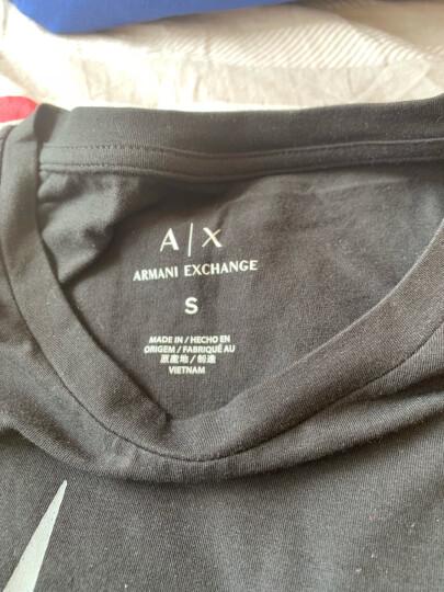ARMANI EXCHANGE阿玛尼奢侈品女士针织T恤衫6YYTEH-YJC7Z WHITE-1100 L 晒单图