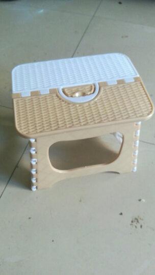贝瑟斯 加厚塑料折叠凳子 浴室便捷式凳子大号户外便携式折叠椅子火车小凳子家用马扎小板凳儿童简易椅子 晒单图