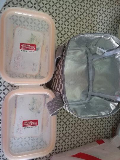 乐扣乐扣(lock&lock)微波炉饭盒 玻璃套装保鲜盒 套装四件套(420ml*2+740ml*2)LLG429S004 晒单图