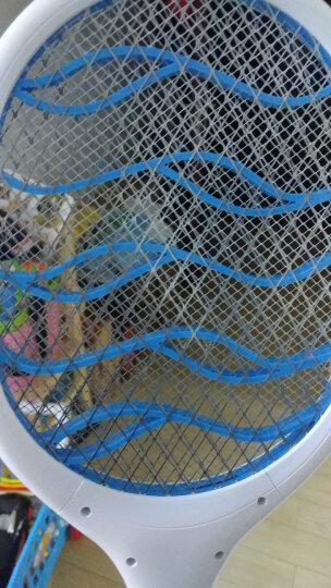 久量dp 电蚊拍充电式 灭蚊拍家用 驱蚊器大功率强电压杀蚊灭蝇安全三层防护网 升级款锂电池大网面粉色 晒单图