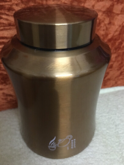 不锈钢茶叶罐茶叶包装盒密封罐茶罐小号储物罐金属密封茶叶罐 沉稳黑大号送茶勺 晒单图