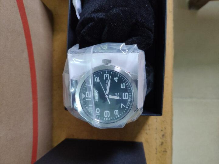 精工(SEIKO)手表 日本原装进口Gents系列人造蓝宝石镜面黑盘钢带商务石英男表SGEG95J1 晒单图