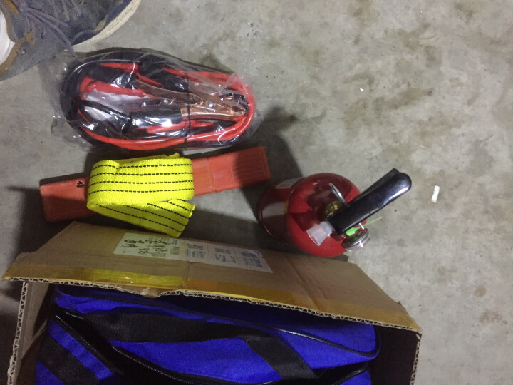 汽车应急包救援包汽车应急工具箱车载灭火器急救包安全锤拖车绳安全自驾 年审标准4件套款---应急包系列 晒单图