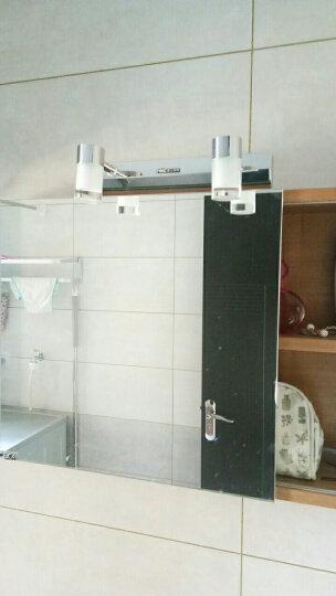 雷士(NVC)led卫生间浴室壁灯梳妆台化妆镜柜防水雾现代时尚简约洗漱间照明灯具灯饰 EMB9011 双头 晒单图