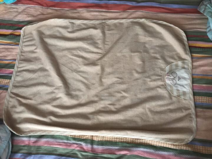 威尔贝鲁WELLBER双层彩棉竹纤维婴儿隔尿垫可水洗夏季大号防水床垫 大眼兔 50*70CM 晒单图