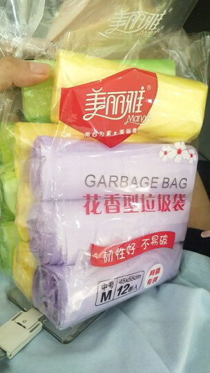 美丽雅 平底型垃圾袋中号45x50cm 60只装 HC048317 晒单图