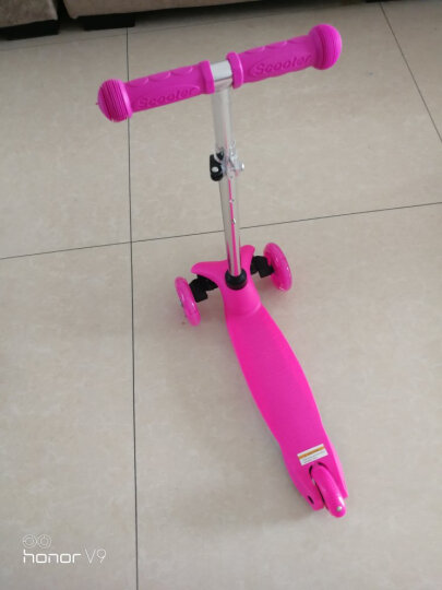 纽奇 滑板车四轮儿童闪光踏板车3-6岁脚踏车宝宝滑行车童车  粉色 晒单图